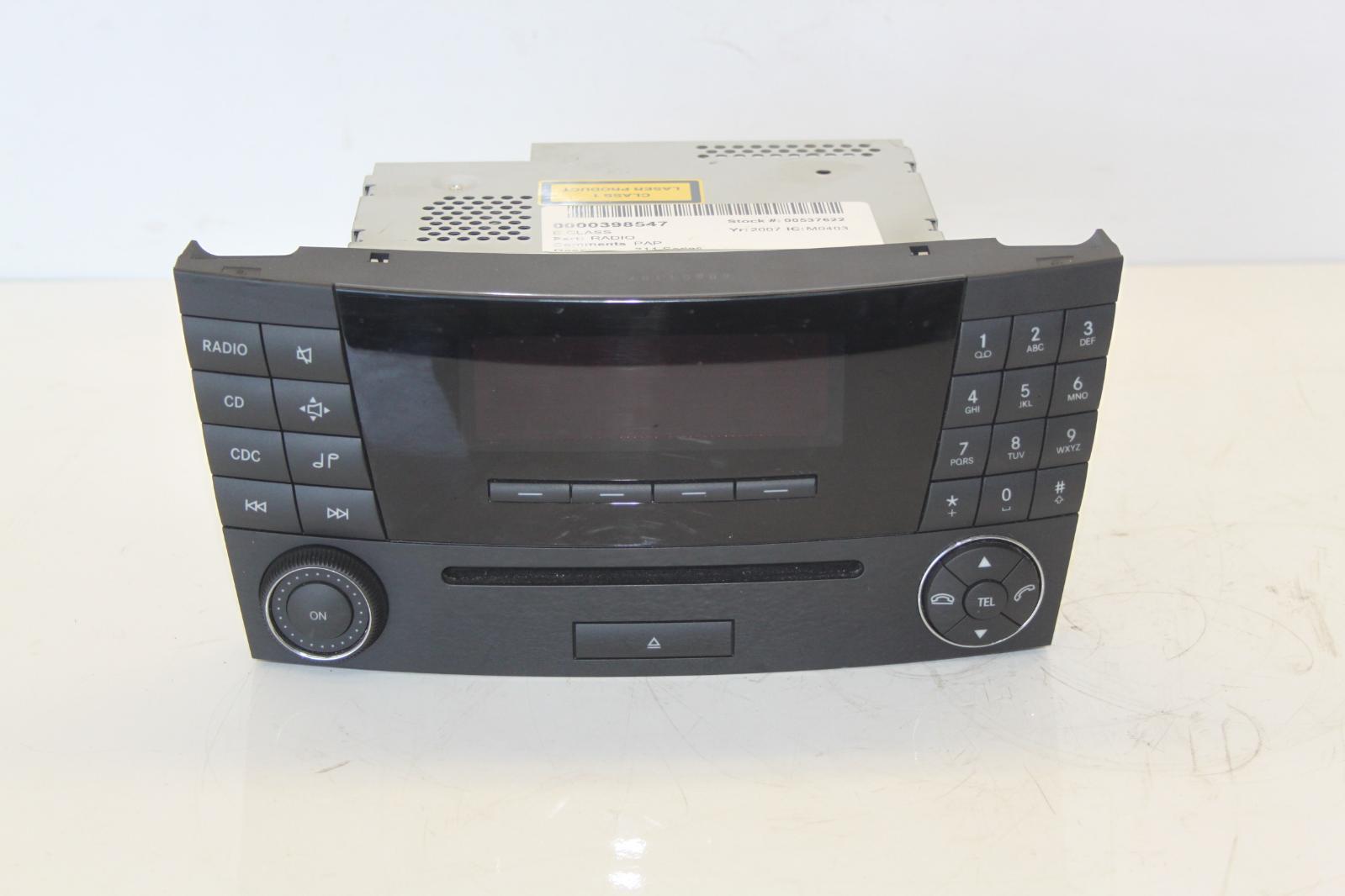2007 w211 mercedes e class mf2770 stereo radio cd head. Black Bedroom Furniture Sets. Home Design Ideas