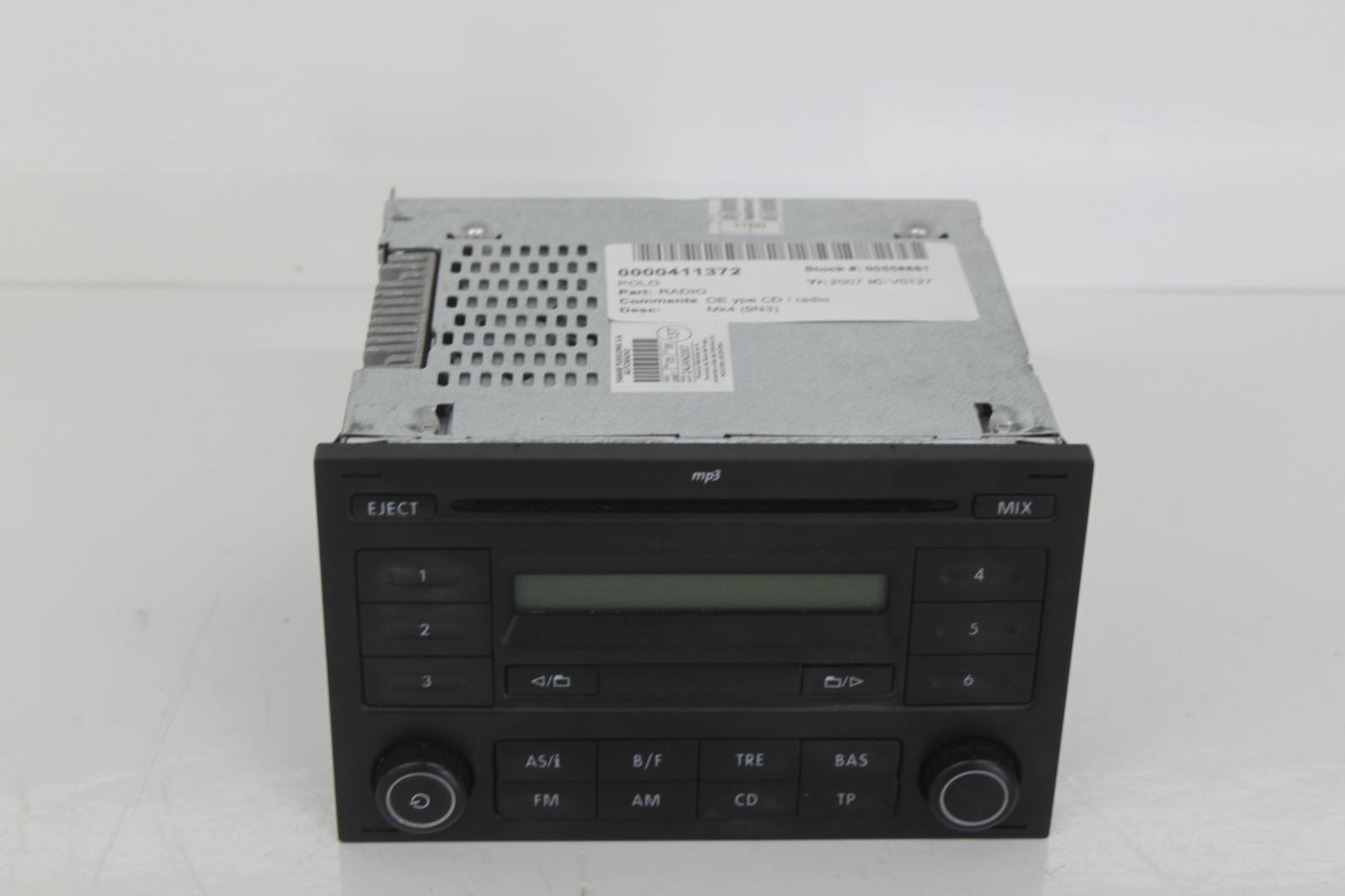 2007 volkswagen polo 9n3 rcd200 stereo radio cd head unit. Black Bedroom Furniture Sets. Home Design Ideas